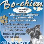 Bo Chien Toilettage 2018 –  toilettage à Chicoutimi